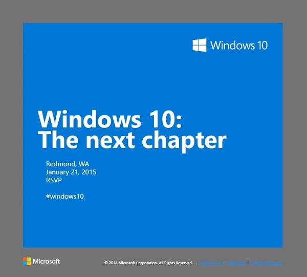Windows 10 invitation : The next chapter