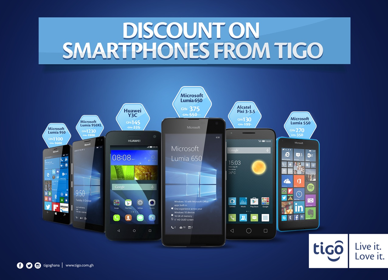 tigo ghana smartphone discount promotion microsoft care gh. Black Bedroom Furniture Sets. Home Design Ideas