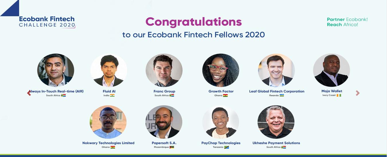Ecobank Fintech Challenge 2020 Nokwary Technologies winners startup Africa